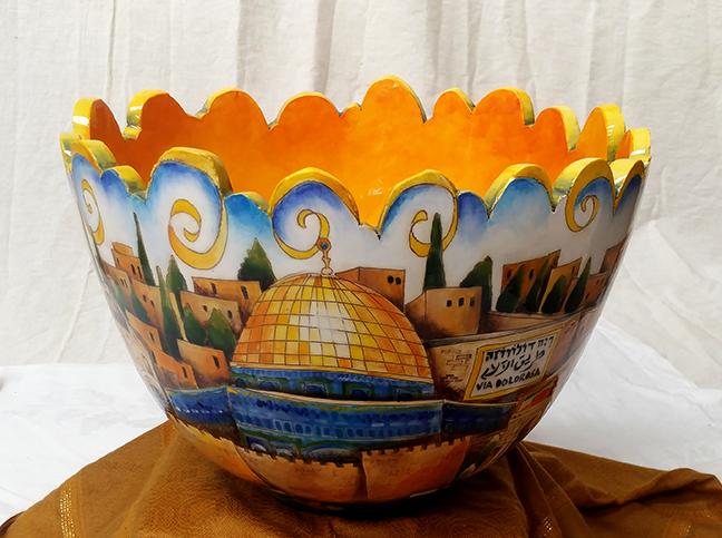 DaNisha ceramic city bowl illinois