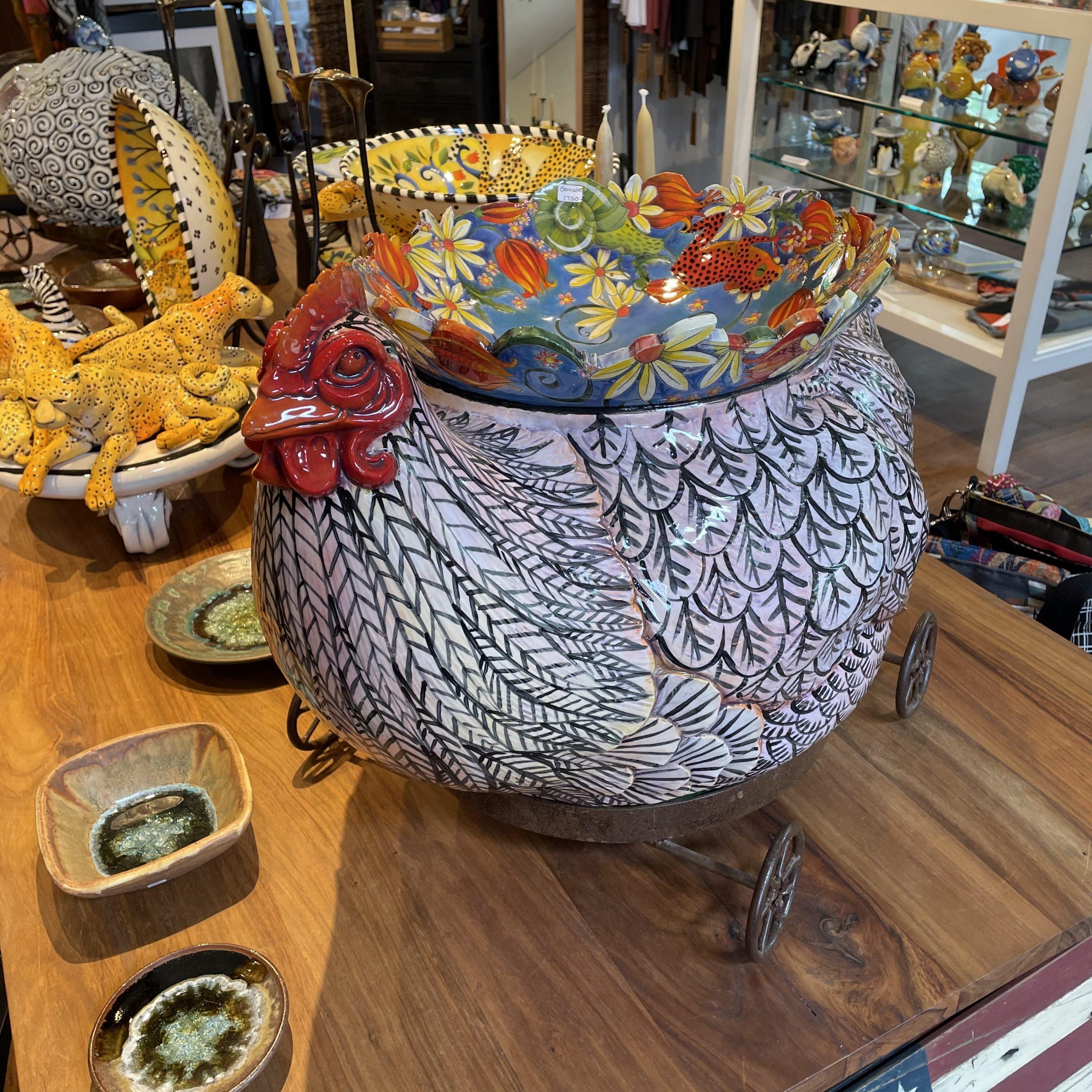 DaNisha ceramic animal chickenillinois